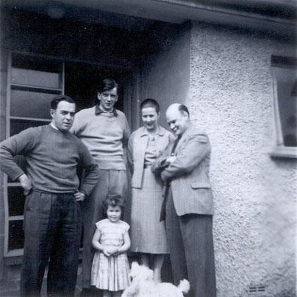 Kendal 1957 � Dick Etheridge, John Evans, Pat Etheridge (Evans), Berwyn Evans (Father), Helen Etheridge